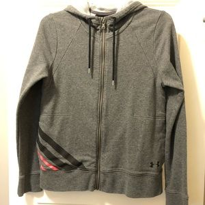 Under Armour Loose Gray Grey Track Zip Up Jacket